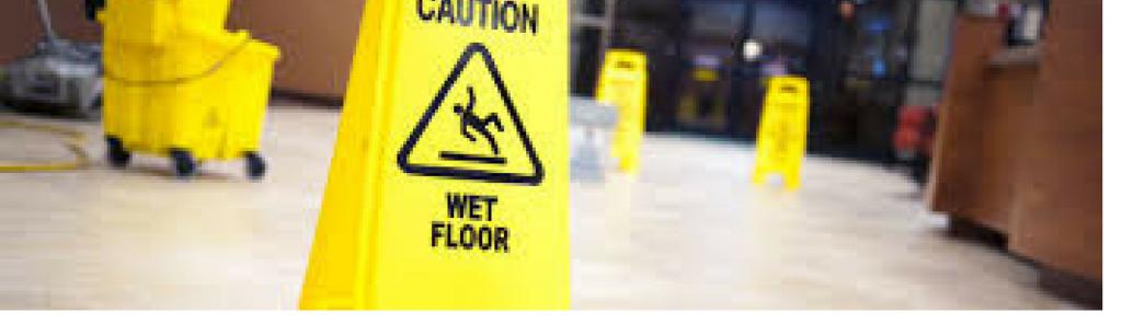 Cleaning wet floor sign